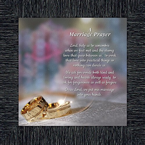 Elegantly Yours Marriage Prayer, Signs with Scripture, Christian Marriage Gift, 10x10 8657CH by Elegantly Yours