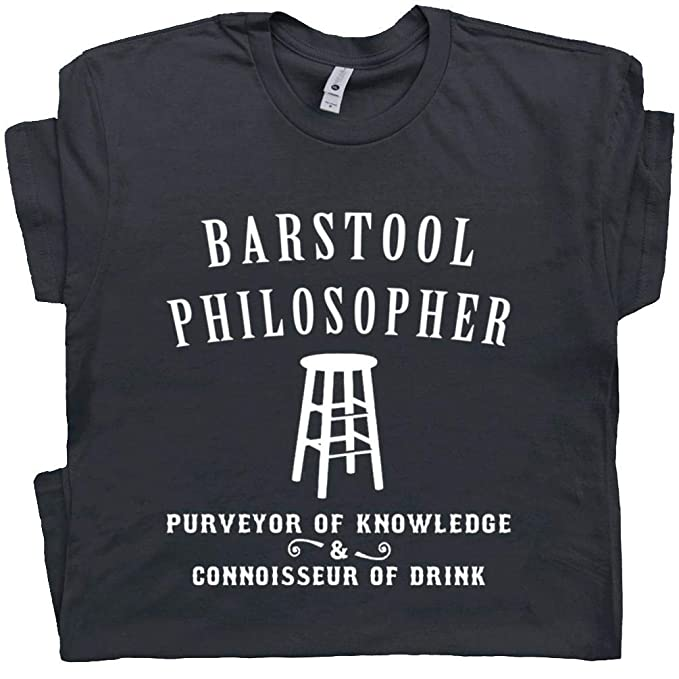 b5ed480e3 S - Barstool Philosopher T Shirt Cool Vintage Beer Tee Philosophy Bar Pub  Socrates Henry David