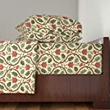 Roostery Islamic 4pc Sheet Set Forest Serpentine 1A by Muhlenkott Queen Sheet Set made with
