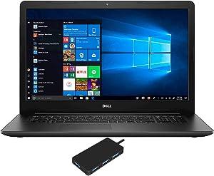 "Dell Inspiron 3793 Home and Business Laptop (Intel i7-1065G7 4-Core, 8GB RAM, 512GB PCIe SSD, Intel Iris Plus, 17.3"" Full HD (1920x1080), WiFi, Bluetooth, Webcam, 2xUSB 3.1, Win 10 Pro) with USB Hub"