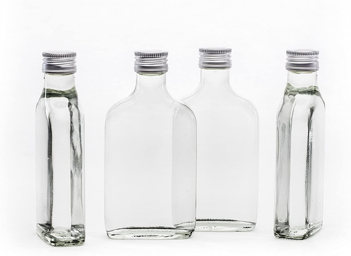 COURIER DELIVERY Packs 6,12,18 x 750 ml Clear Glass Oil Bottles /& Gold Caps