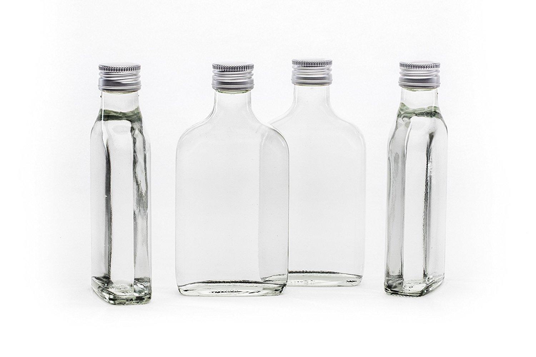 20 200ml vacío Tashi la botella de cristal con tapón de rosca de 200 ml listo para ser embotellado botellas de 0,2 l litro de licor botellas de licor y ...