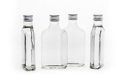 20 200ml vacío Tashi la botella de cristal con tapón de rosca de 200 ml listo