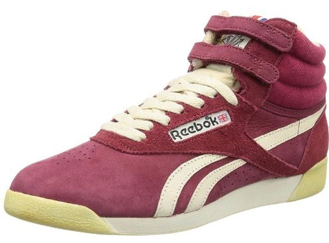 Reebok Freestyle Hi Rot V52775 Größe Euro 40,5 / US 9,5 / UK 7 / 26,5 cm -
