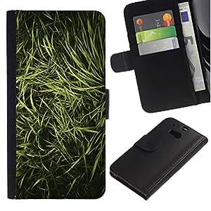 For HTC One M8,S-type® Grass Nature Vignette Photo - Dibujo PU billetera de cuero Funda Case Caso de la piel de la bolsa protectora