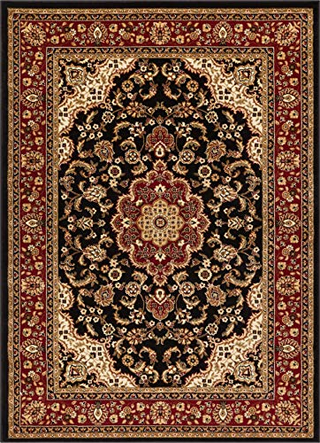 (Noble Medallion Black Persian Floral Oriental Formal Traditional Area Rug 8x10 8x11 ( 7'10