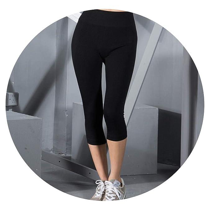 Amazon.com: Summer Women Capri 3/4 Yoga Pants Breathable ...