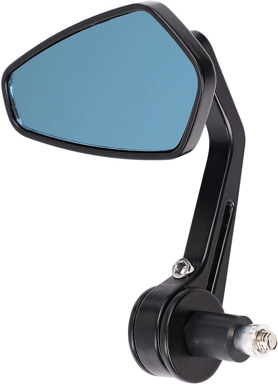 ITODA Une Paire de Universel 7//8 22mm R/étroviseurs Lat/éraux Miroir Moto//Scooter//Mobylette Universel Accessoires Moto en Plastique Miroir de R/étroviseur R/éflecteur Ajustable-Noir