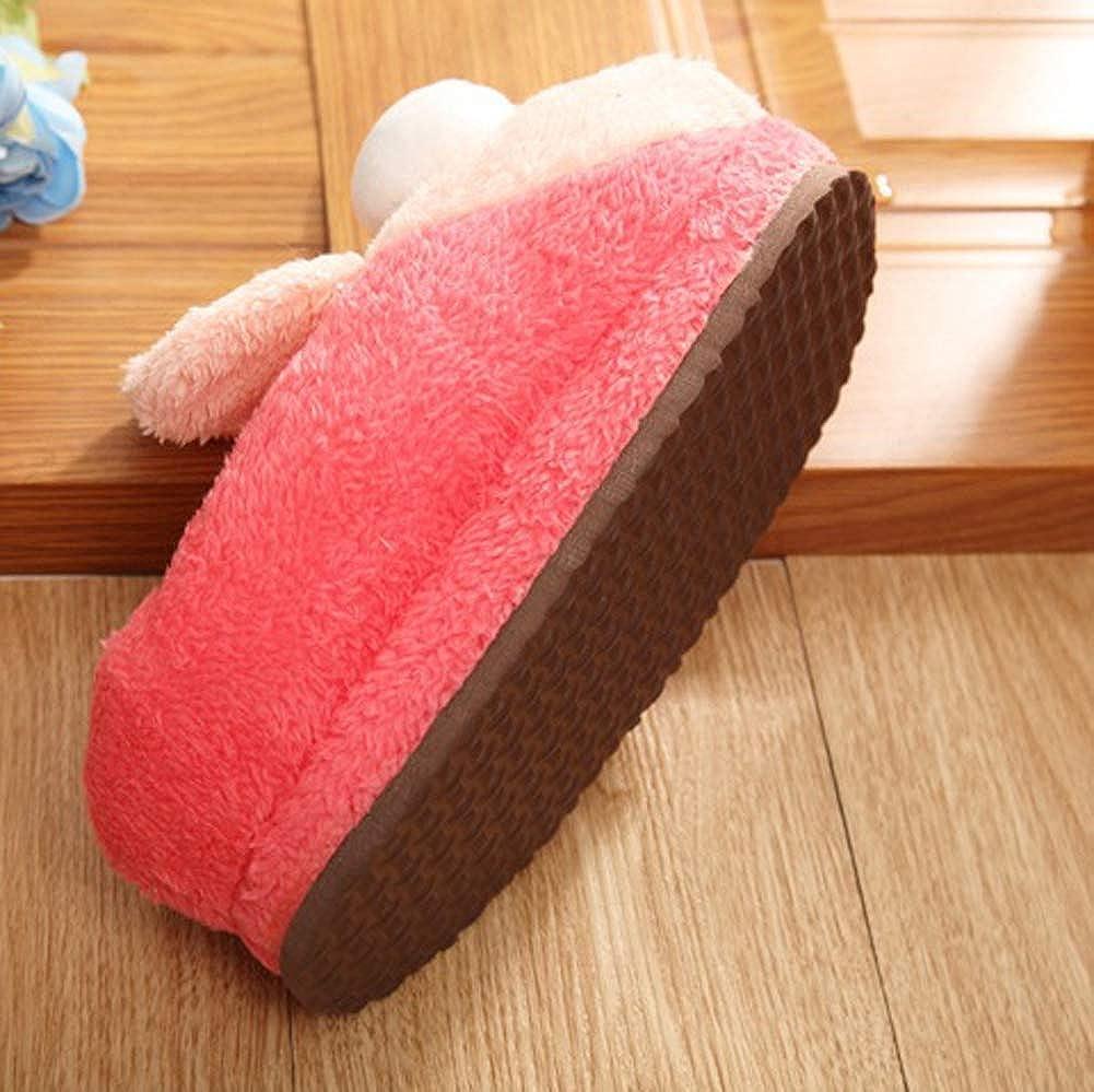 Winter Home Outdoor Skid Warm Thicken Cotton Shoes WGFGXQ Ladies Plush Cotton Slippers
