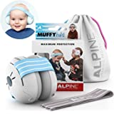 Alpine Muffy Baby Ear Muffs, Ear Protectors for Babies and Toddlers, Blue/White Blue/White