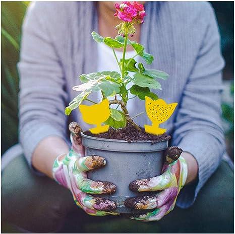 Mengxin 48Pcs Pi/ège /à Insectes Collants Autocollants Colle Double Face /Étanche Jaunes Anti Moucherons Plantes Attrape Mouches Autocollants pour Jardin Plante Fleur Fruits