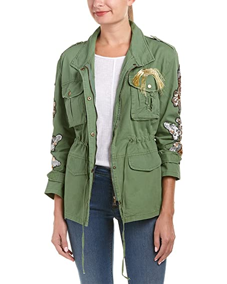 Women's Fashion Floral Embroidered Bomber Jacket