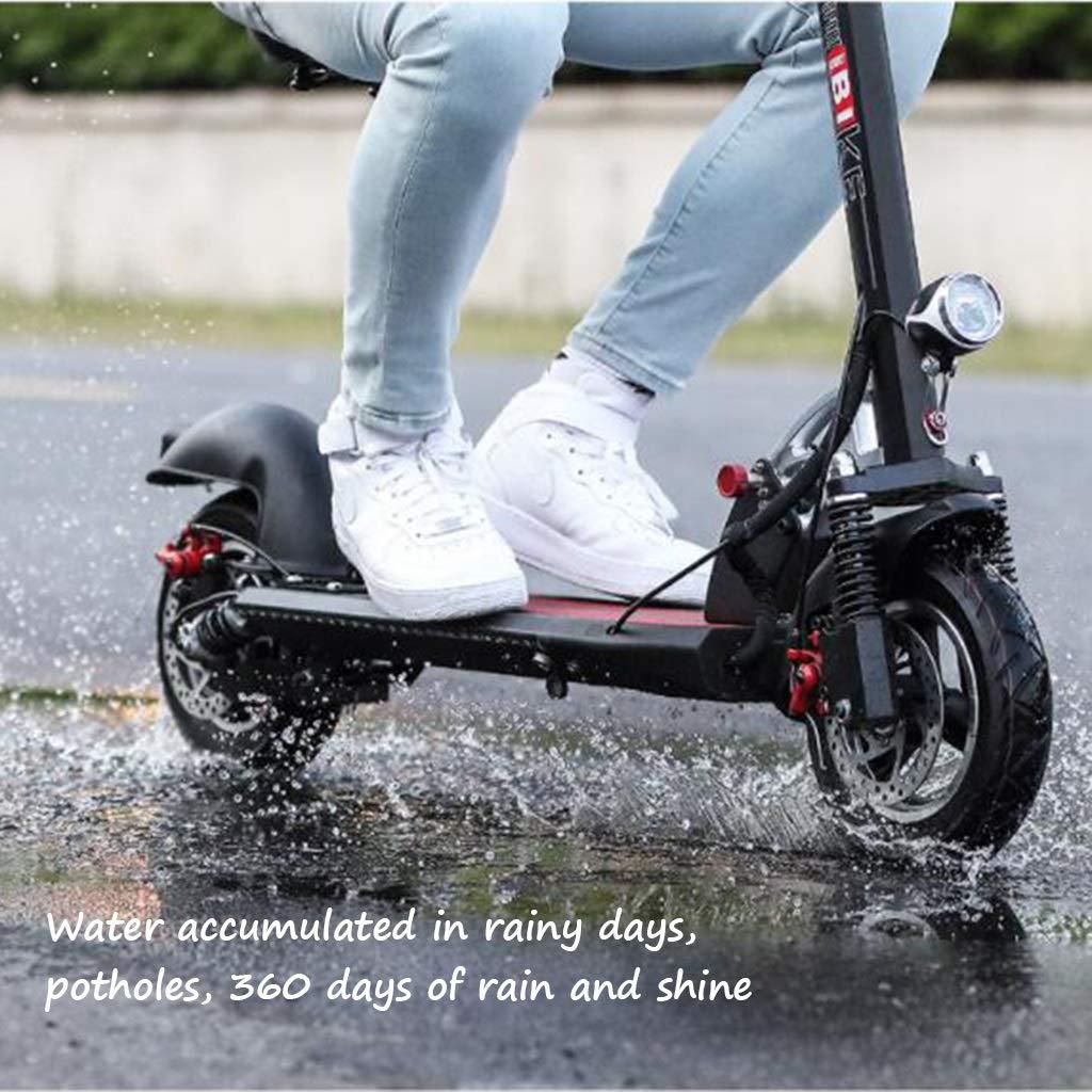 Bicicleta eléctrica Vespa eléctrica para Adultos conducción Plegable pequeña Vespa de batería de Litio Bicicleta de batería multifunción (Color : Black-A, ...