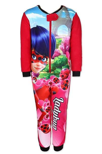 MIRACULOUS LADYBUG - Pijama de una Pieza - para niña Rojo Rosso 10 años