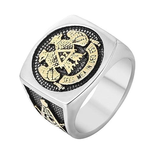 Amazon.com: Sping Jewelry - Anillo de acero inoxidable con ...