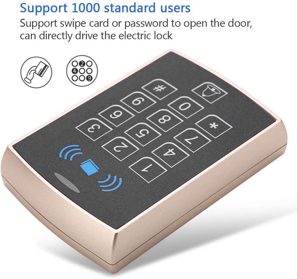 Syst/ème de contr/ôle dacc/ès Gold contr/ôleur dacc/ès de Carte Promixity Multifonction RFID sans Contact avec contr/ôle dacc/ès de Porte de s/écurit/é