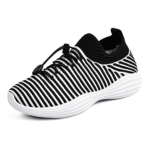 866862be34f QANSI Unisex Kids Mesh Trainers Slip on Sports Running Shoes