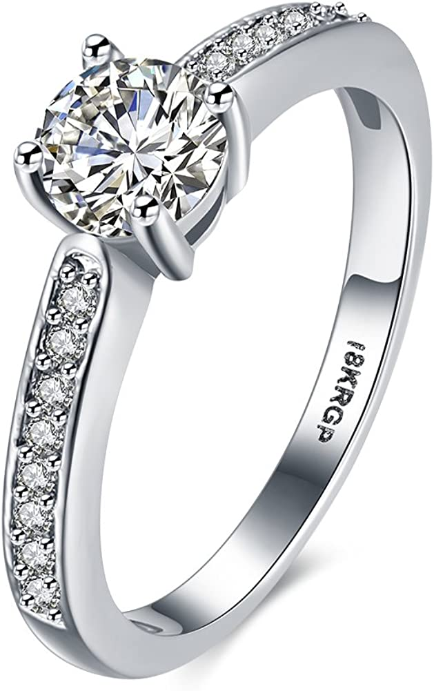 IVYRISE Hot Love Amazing Wedding Gift Poetical Zircon Engagement Anniversary Rings Bands for Her