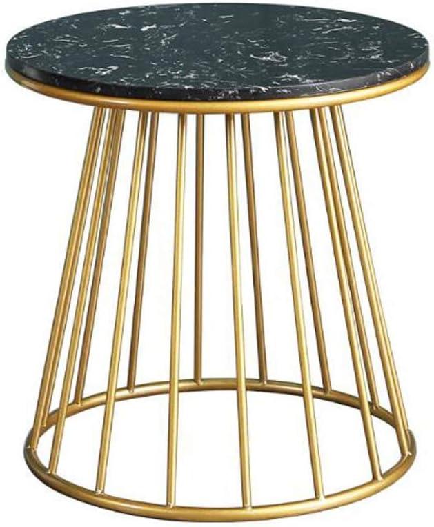 Ontwerper Bijzettafel, koffietafel, bijzettafel, moderne ronde zijbank, kleine koffie-thee-tafel voor huis, woonkamer, kantoor - 15,7 inch cirkel marmer B BU2MZTS
