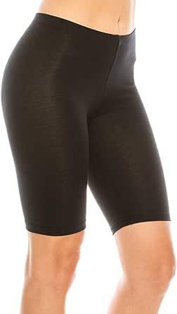 C&C Style Women's Stretch Jersey Bike Yoga Running Workout Bermuda Shorts Tights Pants Leggings S to 3XL Plus
