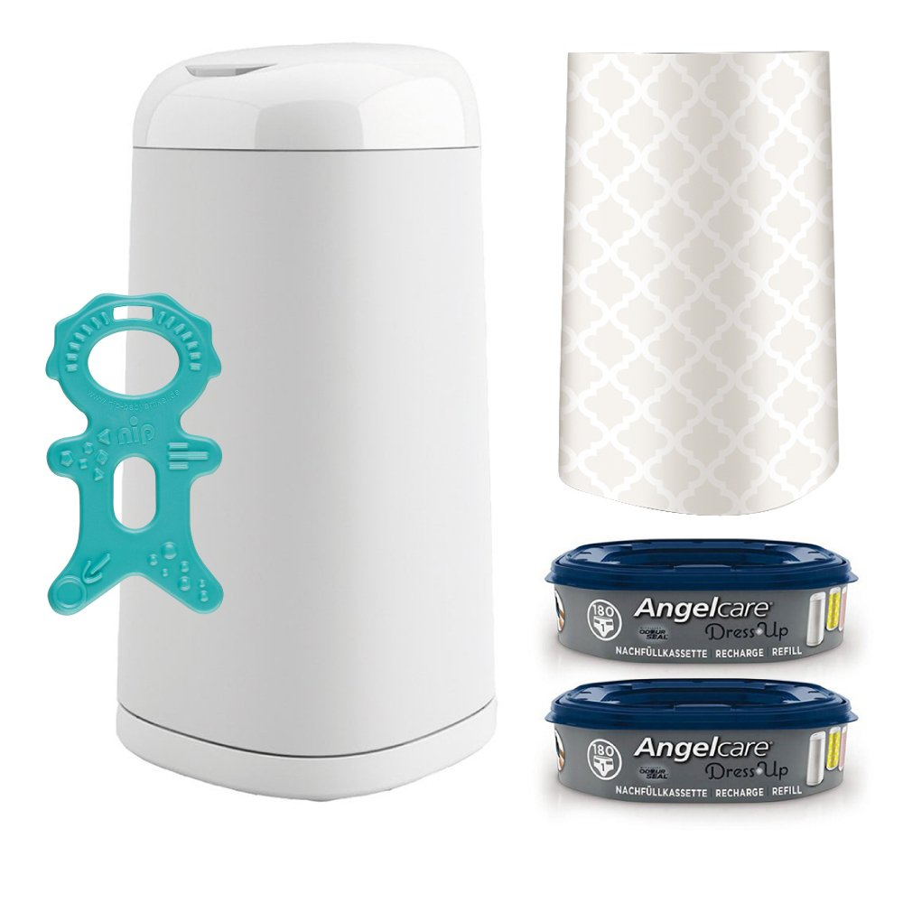 Angelcare® Dress-Up Starter-Set: Windeleimer + 2 Nachfüllkassette + Dress-Up Bezug Oriental