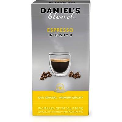DANIELS BLEND - 100 Cápsulas de Café Compatibles con Máquinas Nespresso - ESPRESSO
