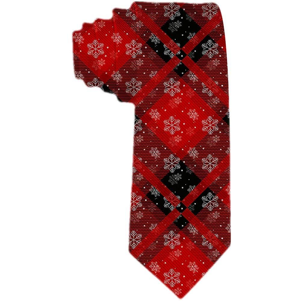 Corbata de regalo de Navidad para hombres Copos de nieve con