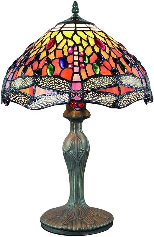 Tokira Lámparas de mesa Tiffany vintage 12 pulgadas, patrones de ...