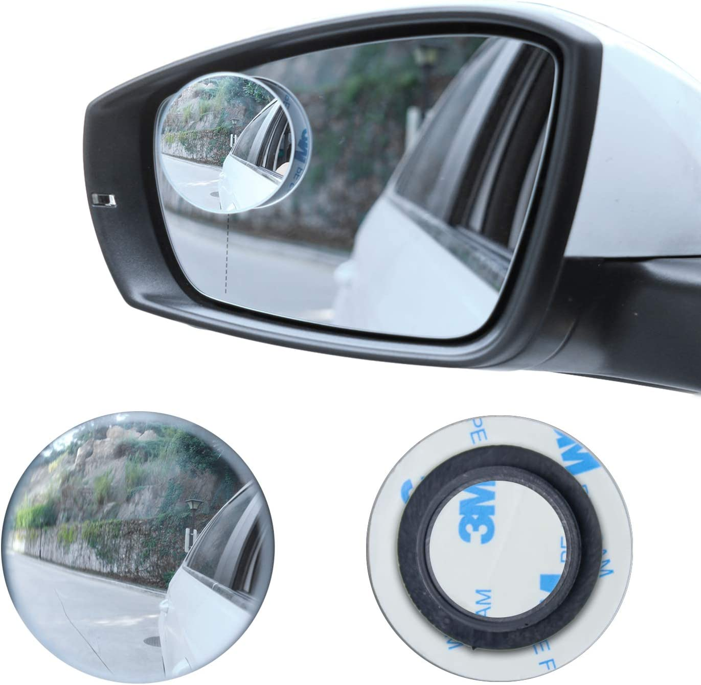 Stick On Interior Rearview Mirror /& Blind Spots For Citroen