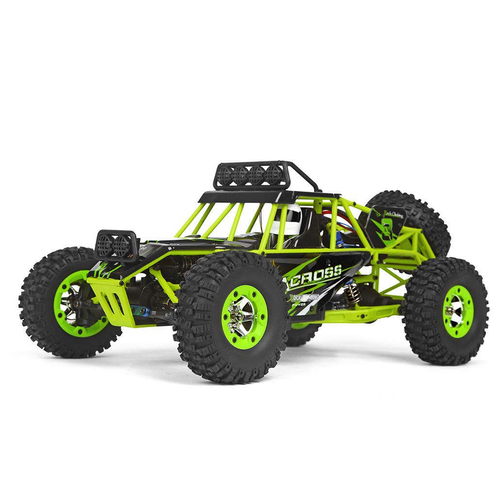 ASfairy RC Car 1:12 Scale 4WD High Speed 50km/h Off -Road/Rock Climbing Buggy Car 2.4Ghz Electric with LED Light/Waterproof/Shockproof Boys' Suprise Gift by ASfairy (Image #3)