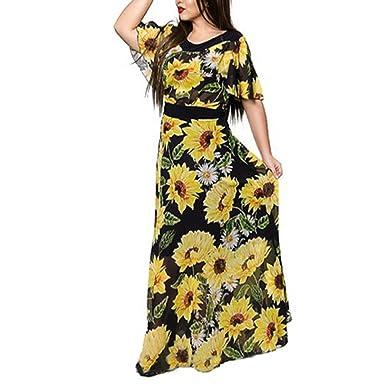 SAFJK dress 2018 Women Boho Floral Chiffon Summer Long Beach Dress Print Party Maxi Vestido 2620