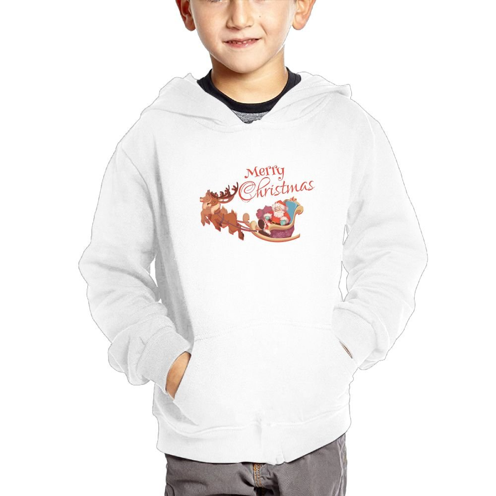 Merry Christmas Breathable Hooded Pocket Sweater for Children Spring//Autumn//Winter Outfit Long-Sleeved Hoodie