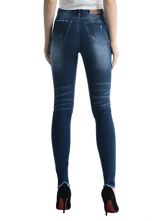 Alice & Elmer Stretch Cintura Alta Skinny Pantalones,Vaqueros para Mujer