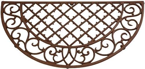 Esschert Design Cast Iron Doormat – Half Round 26 x 13 LH46