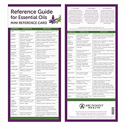 amazon com reference guide for essential oils mini reference cards rh amazon com guide to essential oils diffuser guide to essential oils uses
