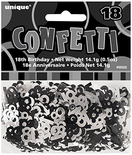 Unique Party Black Confetti - 18]()