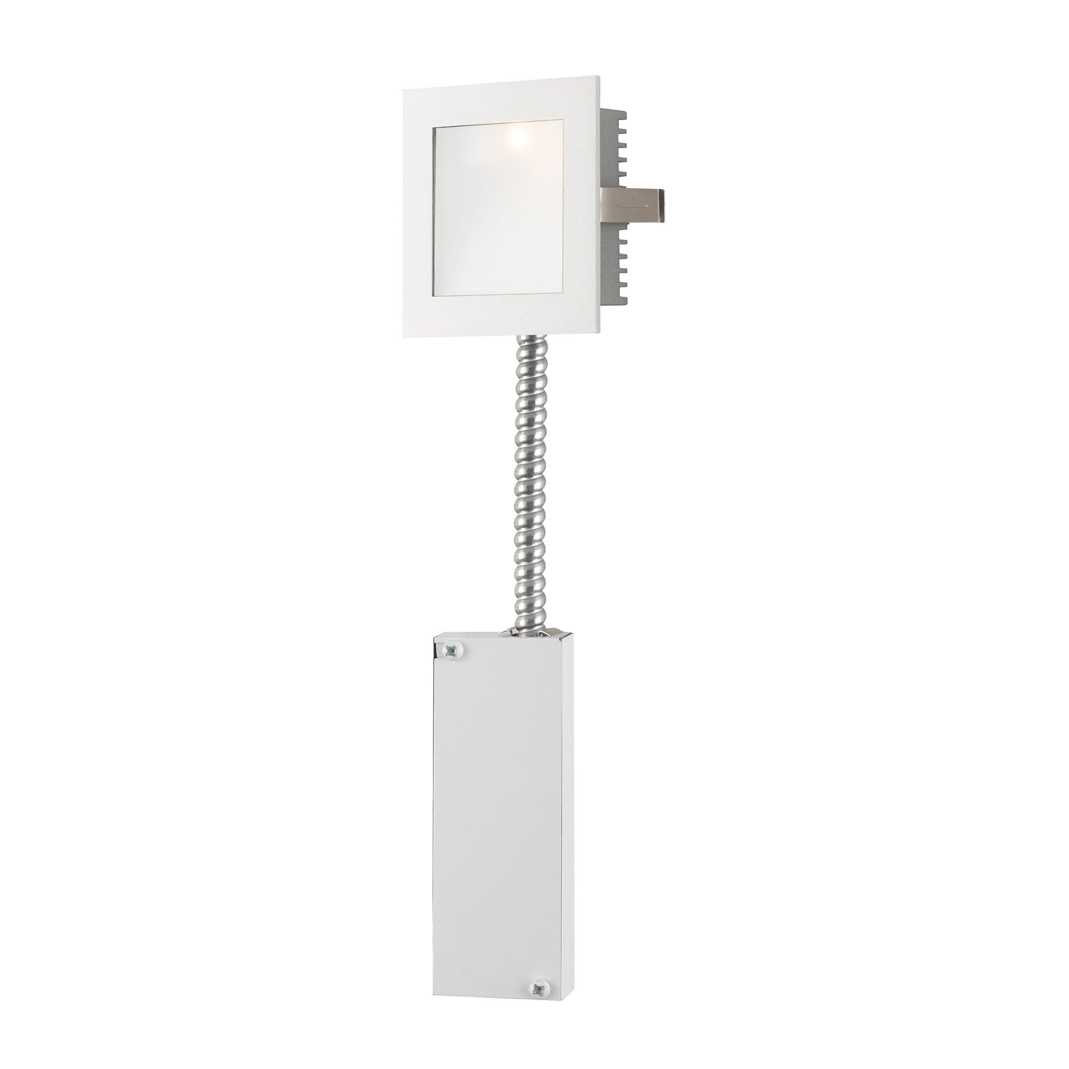 Steplight - Wall Recessed Xenon W/ Retrofit Housing Opal Lens / White Trim. by AR Lighting