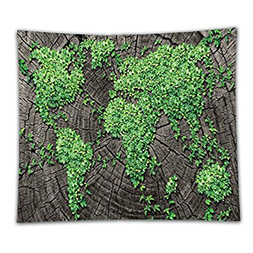 Tree Trunks Costume (Beshowereb Fleece Throw Blanket World Map Decor Collection Tree Trunk Green Forest Fauna Natural Woods Environment Picture Girls Boys)
