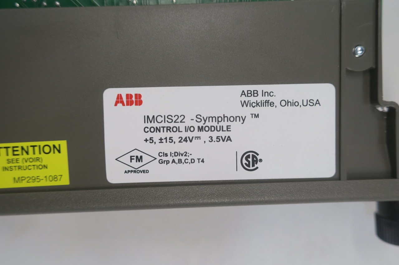 NEW ABB IMCIS22 SYMPHONY CONTROL I/O MODULE D590054 by ABB (Image #7)