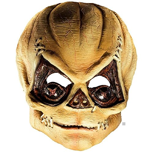 [Sam the Demon Mask Adult Trick r Treat Pumpkin Head Scary Halloween Costume Asry] (Sam Trick R Treat Costumes)