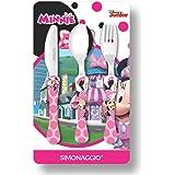Jogo de Talheres Infantil Disney Kids Minnie, Simonaggio, Multicor, Pacote de 3