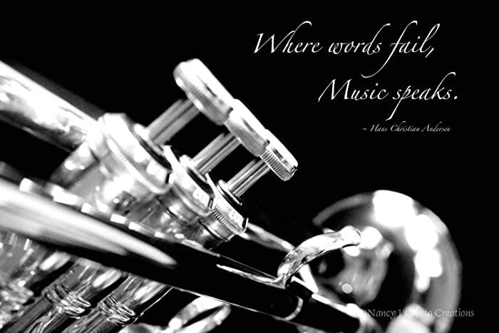 Amazon Com Inspirational Photographic Print Trumpet Photo Music