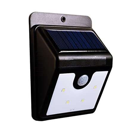 Inditradition Outdoor Solar LED Light Lamp | Smart Motion Sensor, Detect & Glow Concept, Auto ON-Off | Pack of 01