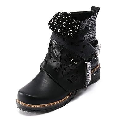 new products dbf52 ab204 Stiefeletten Damen Schuhe ABsoar Boots Stiefel Frauen Vintage Herbst Winter  Stiefel aushöhlen Stiefeletten Lässige High Heels Stiefel Schuhe Frauen ...