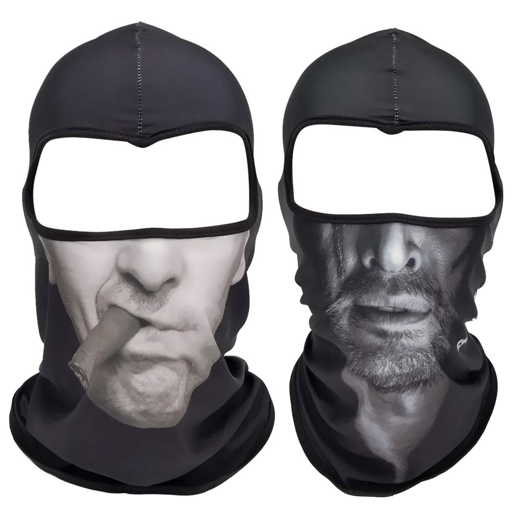 Fansport 2PCS Outdoor Face Mask Windproof Sunproof Dustproof 3D Tube Mask Fishing Mask