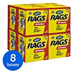 Scott Rags In A Box 75260, White, 200 Shop Towels/Box, 8 Boxes/Case