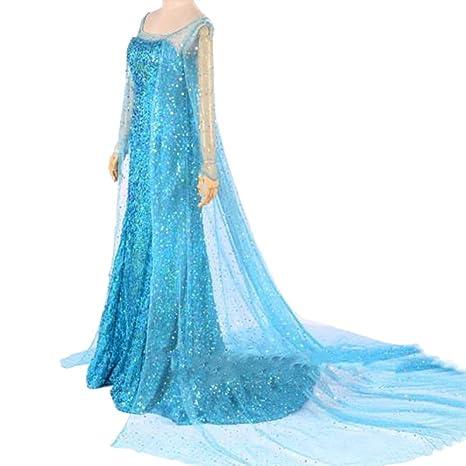 Moin Vestido de fiesta princesa para mujer vestido para Cosplay Carnaval Navidad vestido de larga