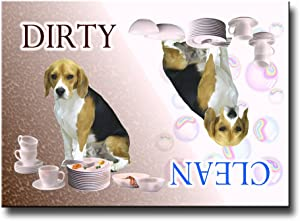 Beagle Clean Dirty Dishwasher Magnet