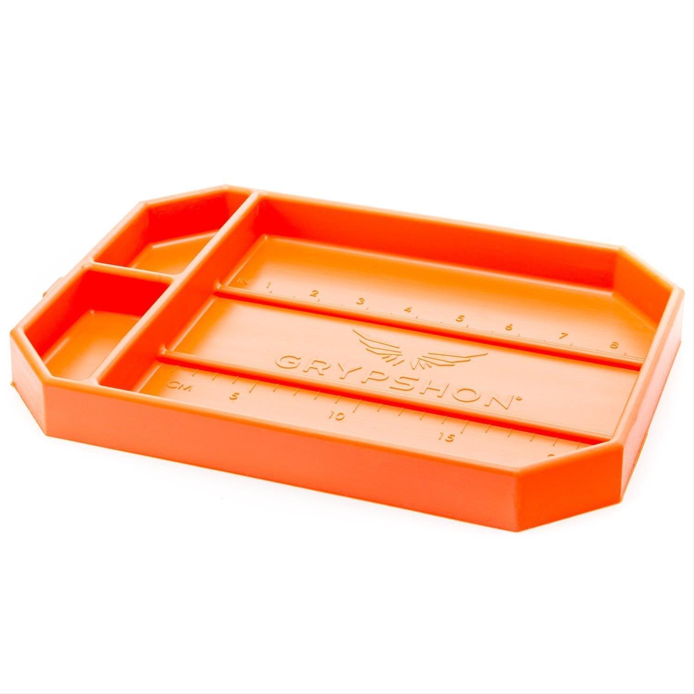 Grypmat | Non-Slip Flexible Orange Tool Tray | Tool Box Organizer | Socket Organizer | Tool Holder | Tool Mats | No Magnets | Easy Clean Up | As Seen On Shark Tank (Medium) by Grypshon (Image #1)