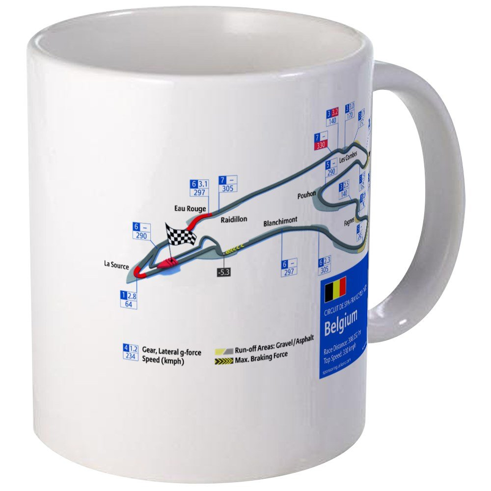CafePress - Formula 1 - Spa-Francorchamps Mug - Unique Coffee Mug, Coffee Cup